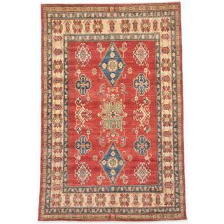 Ecarpetgallery Hand-knotted Finest Gazni Red Wool Rug (6'3 x 9'3)