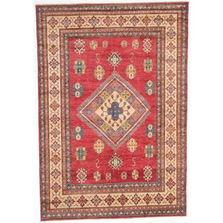 Ecarpetgallery Hand-knotted Finest Gazni Red Wool Rug (6'7 x 9'5)