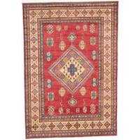 Ecarpetgallery Hand-knotted Finest Gazni Red Wool Rug (6'7 x 9'5) - 6'7 x 9'5