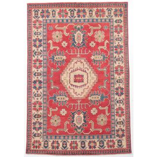 Ecarpetgallery Hand-knotted Finest Gazni Red Wool Rug (5'8 x 8'5)