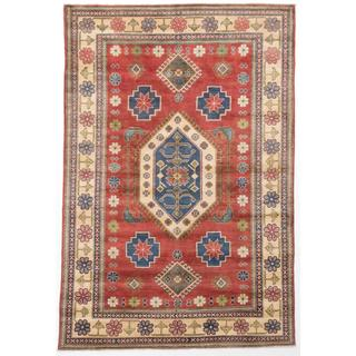 Ecarpetgallery Hand-knotted Finest Gazni Brown Wool Rug (6' x 8'11)