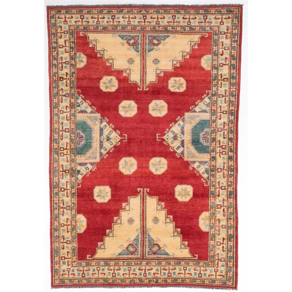 Ecarpetgallery Hand-knotted Finest Gazni Red Wool Rug (6'3 x 9'4)