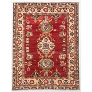 Ecarpetgallery Hand-knotted Finest Gazni Red Wool Rug (7'1 x 9'4)