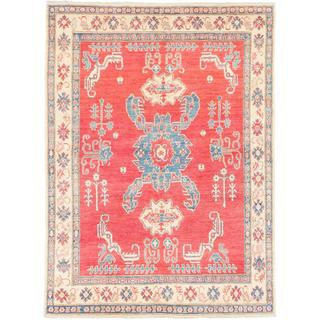 Ecarpetgallery Hand-knotted Finest Gazni Red Wool Rug (6'7 x 8'10)