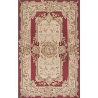 Ecarpetgallery Hand-knotted French Tapestry Red Wool Sumak (5'1 x 8'3)