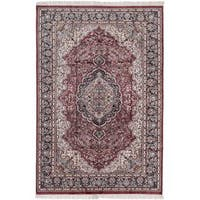 Ecarpetgallery Hand-knotted Kashmir Red Silk Rug (5'10 x 8'10)
