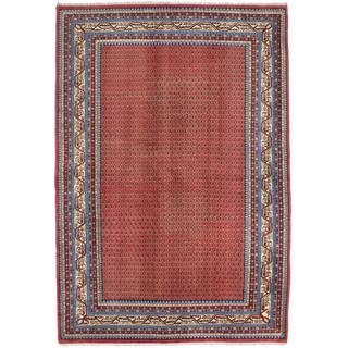 Ecarpetgallery Hand-knotted Royal Mahal Brown Wool Rug (6'5 x 9'5)
