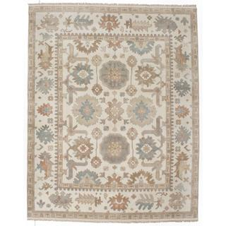 Ecarpetgallery Hand-knotted Royal Ushak Beige Wool Rug (7'10 x 9'9)