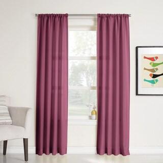 No. 918 Maddie Rod Pocket Solid Sheer Window Curtain Panel