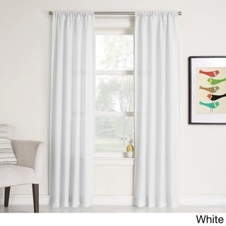 No. 918 Maddie Rod Pocket Solid Sheer Window Curtain Panel