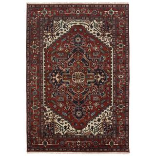 Ecarpetgallery Hand-knotted Serapi Heritage Red Wool Rug (6'1 x 9')