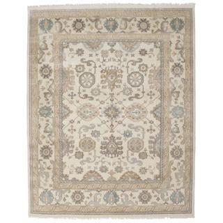 Ecarpetgallery Hand-knotted Royal Ushak Beige Wool Rug (7'8 x 9'10)