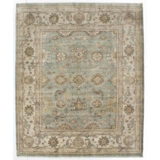 Ecarpetgallery Hand-knotted Royal Ushak Blue Wool Rug (8' x 9'10)