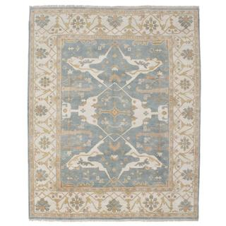 Ecarpetgallery Hand-knotted Royal Ushak Blue Wool Rug (7'11 x 9'11)