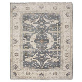 Ecarpetgallery Hand-knotted Royal Ushak Grey Wool Rug (8' x 9'10)