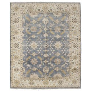 Ecarpetgallery Hand-knotted Royal Ushak Grey Wool Rug (8' x 9'8)