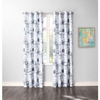 No. 918 Ollie Grommet Crushed Microfiber Print Window Curtain Panel (Single Panel)