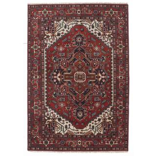 Ecarpetgallery Hand-knotted Serapi Heritage Brown Wool Rug (6' x 9')