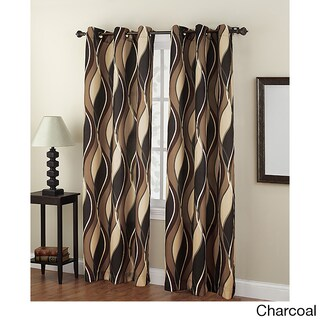 No. 918 Intersect Grommet Woven Print Window Curtain Panel (4 options available)
