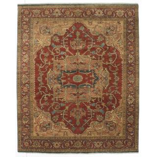 Ecarpetgallery Hand-knotted Serapi Heritage Brown Wool Rug (7'10 x 9'7)