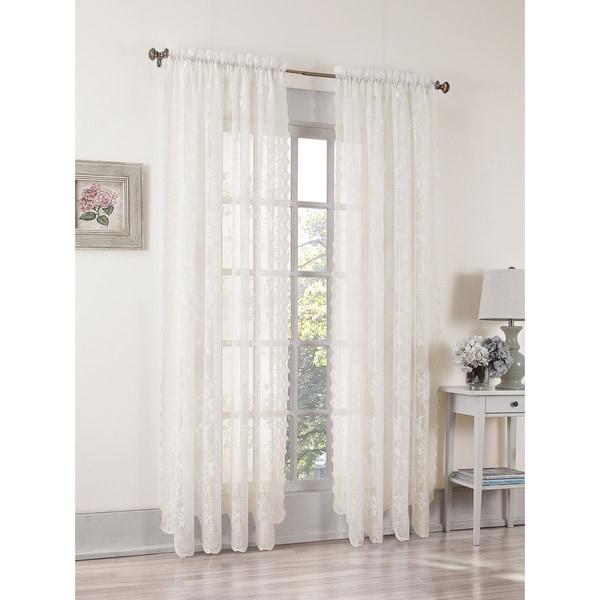 918 Alison Rod Pocket Lace Window Curtain Panel