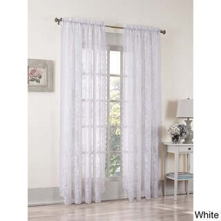 No. 918 Alison Rod Pocket Lace Window Curtain Panel (4 options available)