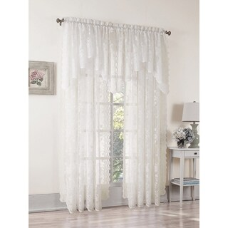 No. 918 Alison Ivory Lace Rod Pocket Window Curtain Panel (4 options available)