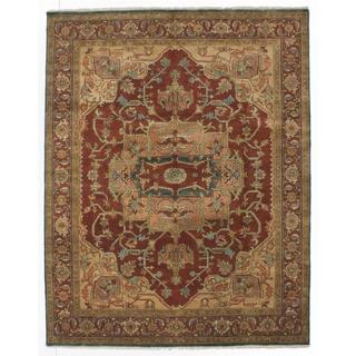 Ecarpetgallery Hand-knotted Serapi Heritage Orange Wool Rug (7'7 x 9'11)