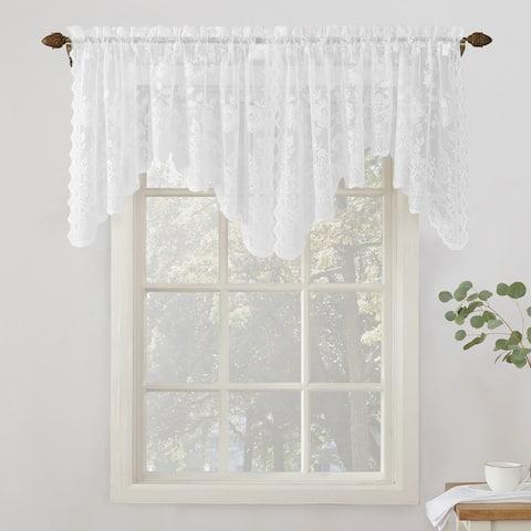 No. 918 Alison Rod Pocket Lace Window Valance