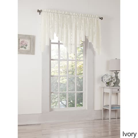 No. 918 Alison Rod Pocket Lace Window Scallop Valance