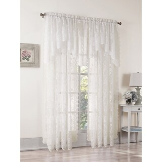 No. 918 Alison Lace Rod Pocket Window Valance (2 options available)