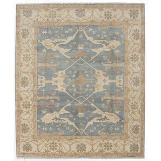 Ecarpetgallery Hand-knotted Royal Ushak Blue Wool Rug (8' x 9'8)