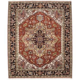 Ecarpetgallery Hand-knotted Serapi Heritage Brown Wool Rug (8' x 9'11)