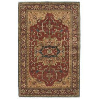 Ecarpetgallery Hand-knotted Serapi Heritage Orange Wool Rug (5'7 x 9')