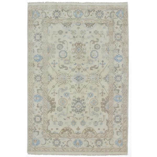 Ecarpetgallery Hand-knotted Royal Ushak Beige Wool Rug (5'10 x 8'10)
