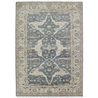 Ecarpetgallery Hand-knotted Royal Ushak Blue Wool Rug (6'3 x 9')