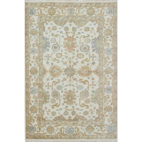 Ecarpetgallery Hand-knotted Royal Ushak Beige Wool Rug (5'9 x 8'8)