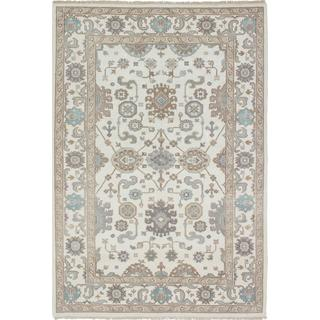 Ecarpetgallery Hand-knotted Royal Ushak Beige Wool Rug (5'11 x 8'9)