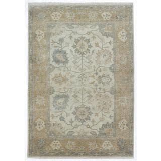 Ecarpetgallery Hand-knotted Royal Ushak Beige Wool Rug (6'1 x 8'11)