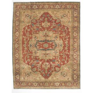 Ecarpetgallery Hand-knotted Serapi Heritage Brown Wool Rug (7'6 x 9'5)