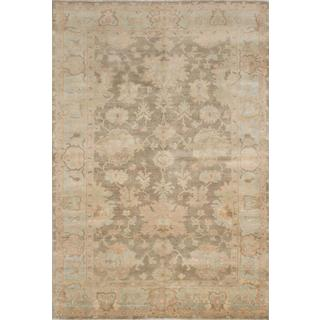 Ecarpetgallery Hand-knotted Royal Ushak Green Wool Rug (5'7 x 8'7)