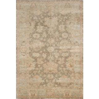 Ecarpetgallery Hand-knotted Royal Ushak Green Wool Rug (5'7 x 8'7)