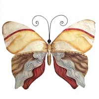 Butterfly Pearl Tan and Brown Garden Decoration