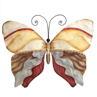 Butterfly Pearl Tan and Brown Garden Decoration (Philippines)