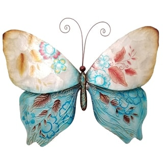 Butterfly Blue and Pearl Garden Decoration