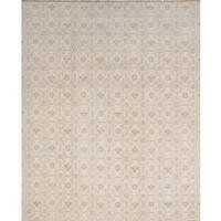 Ecarpetgallery Hand-knotted Ushak Beige Wool Rug (7'9 x 9'11)