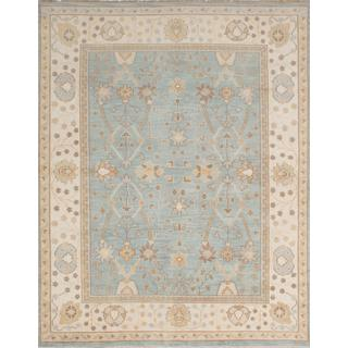 Ecarpetgallery Hand-knotted Ushak Blue Wool Rug (7'10 x 9'10)