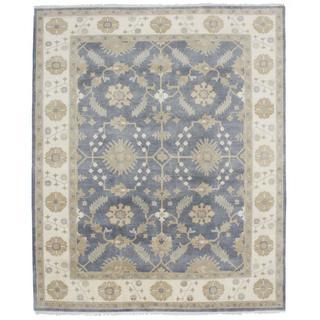 Ecarpetgallery Hand-knotted Royal Ushak Grey Wool Rug (8' x 9'11)
