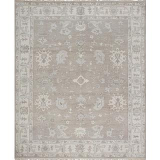 Ecarpetgallery Hand-knotted Ushak Grey Wool Rug (8' x 9'8)