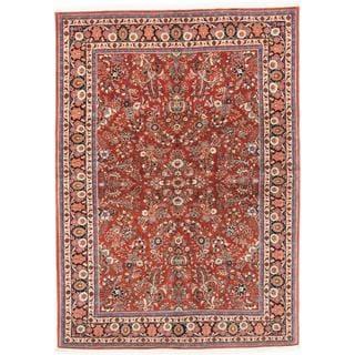 Ecarpetgallery Hand-knotted Persian Sarough Finest Orange Wool Rug (5'11 x 8'2)